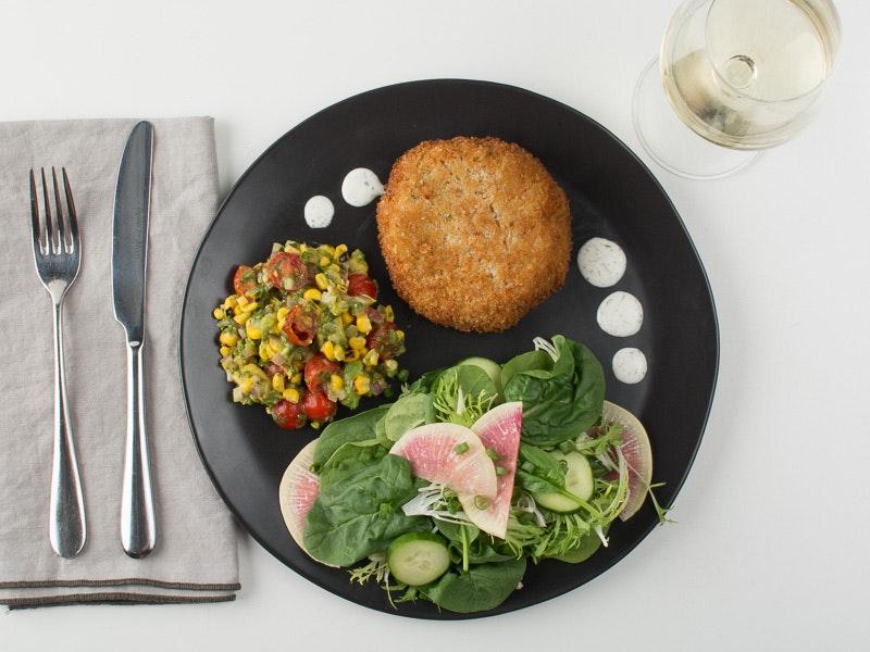 Dinner vegan crab cake.jpg?ixlib=rb 1.1.0&sharp=5&vib=5&gam= 5&auto=format%2cenhance&ch=width%2cdpr&dpr=2