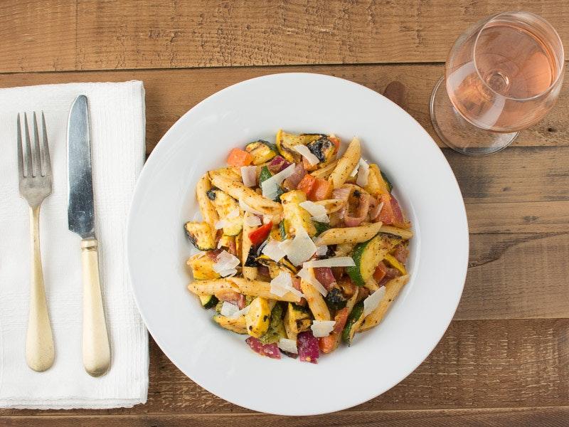 Dinner veggie pasta salad wood.jpg?ixlib=rb 1.1.0&sharp=5&vib=5&gam= 5&auto=format%2cenhance&ch=width%2cdpr&dpr=2