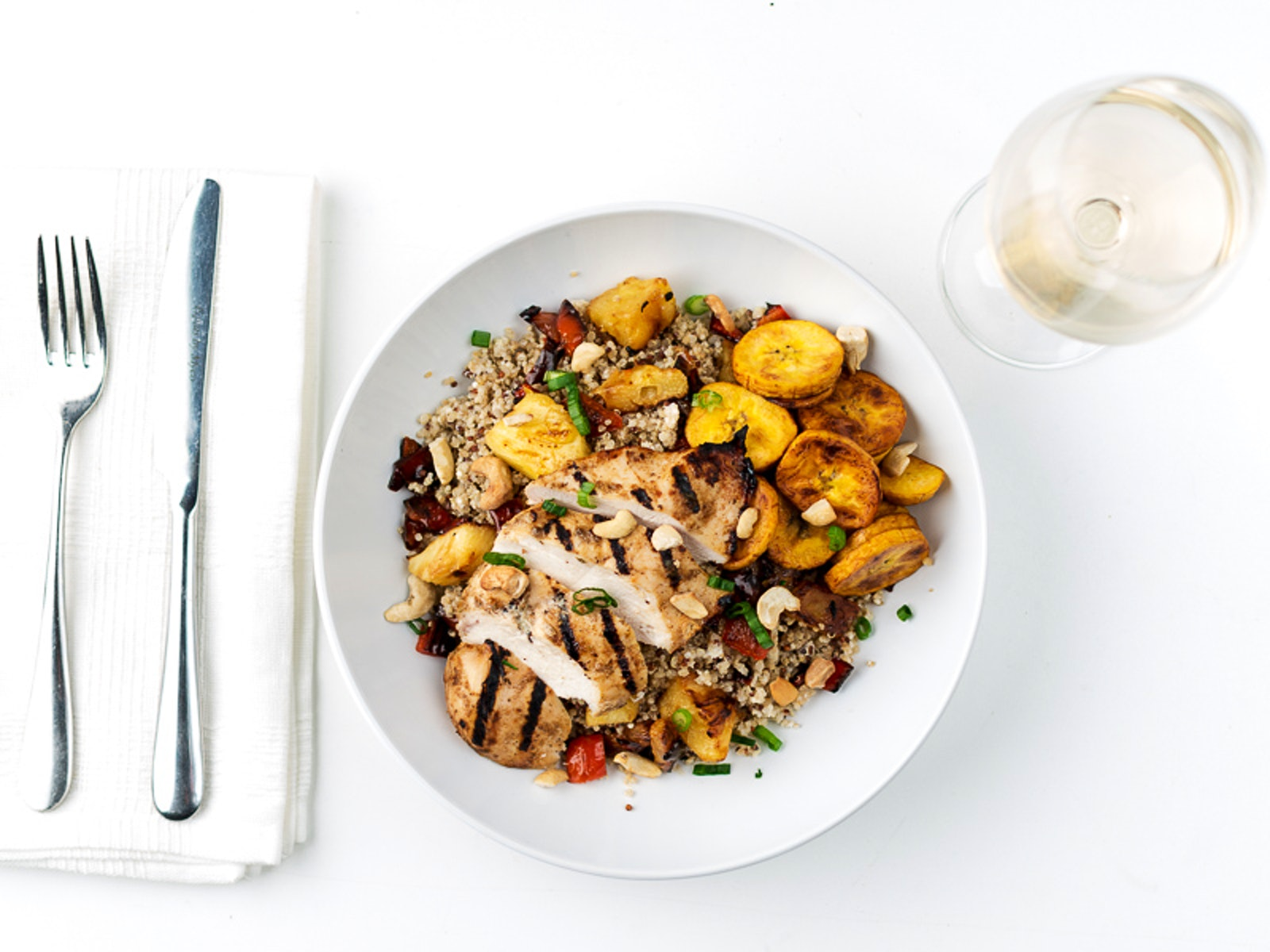 White apron dc nutrition - Caribbean Jerk Chicken Bowl