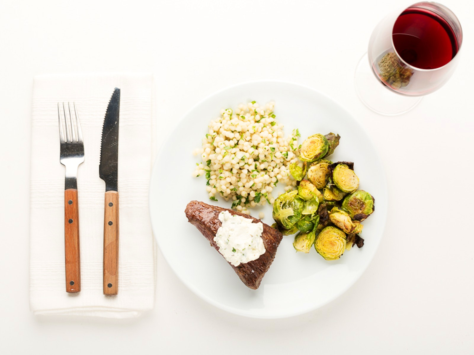 White apron dc calories - Herbed Goat Cheese Steak
